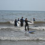 Surfing at Bournemouth Beach